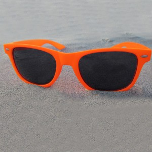 Wayfarer Neon Orange Sunglasses