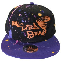 Snapback Black / Purple Peak Twisted Beak