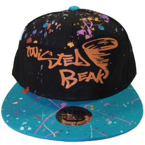 Snapback Black / Turquoise Peak Twisted Beak