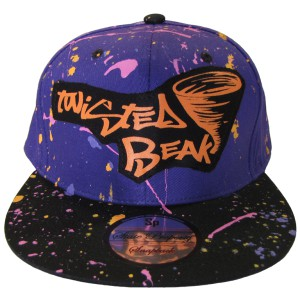 Snapback Purple / Black Peak Twisted Beak