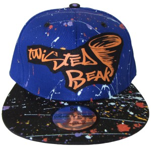 Snapback Royal Blue / Black Peak Twisted Beak