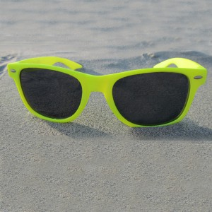 Wayfarer Neon Yellow Sunglasses